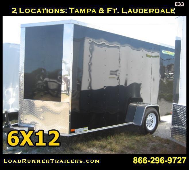 *E33* 6x12 Torsion Axle Enclosed Trailer Cargo Haulers 6 x 12 | EV6-12S3T-R