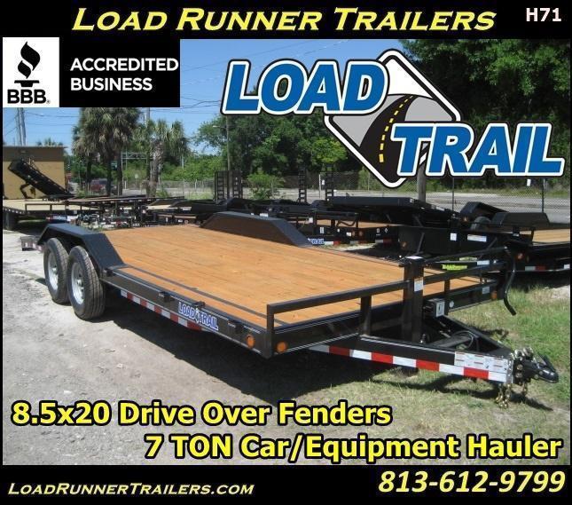 *H71* 8.5x20 Car Hauler Trailer 7TON Trailers 8.5 x 20 | CH102-20T7-DOF