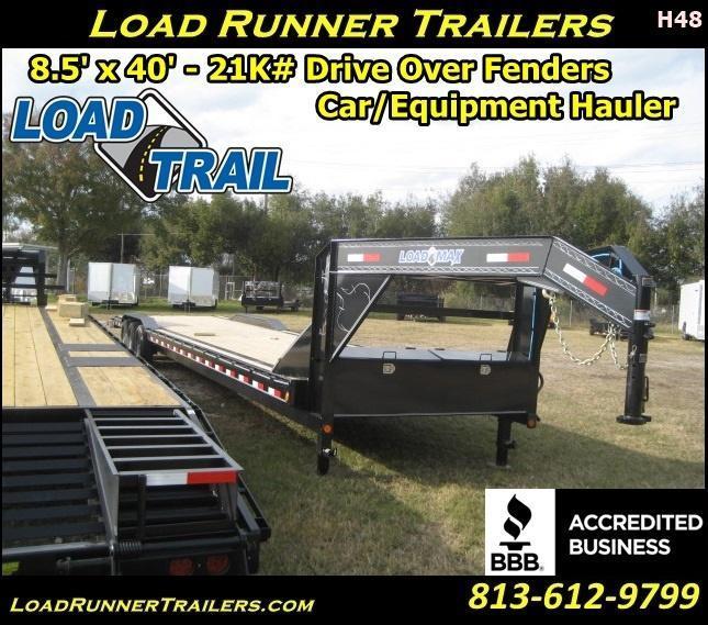 *H48* 8.5x40 Gooseneck Hauler Trailers Car Trailers 8.5 x 40 | CHG102-40TT7-DOF