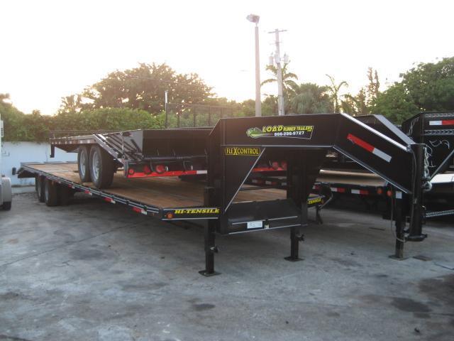 *F68* 8.5x40 10 TON Gooseneck Flatbed Deck Over Flatbed|Triple Ramps 8.5 x 40 | FG102-40T10-3FF