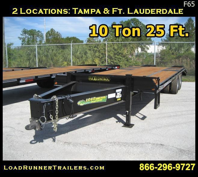 *F65* 8.5x25 10 TON Flatbed Deck Over Trailer Pintle 8.5 x 25 | FP102-25T10-LP/FF