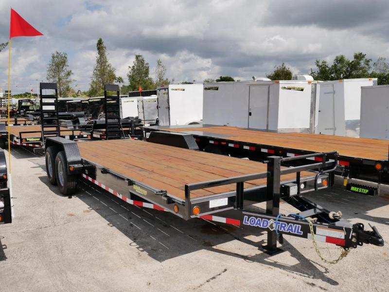 *107109* 7x22 Load Trail Equipment Hauler Trailer 5' Stand Up Kicker Ramps 7 x 22