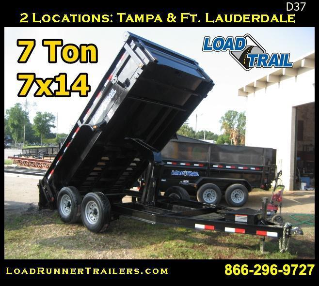 Low Profile 7 TON 7x14 Dump Trailer | Load Trail | LR Trailers | D37