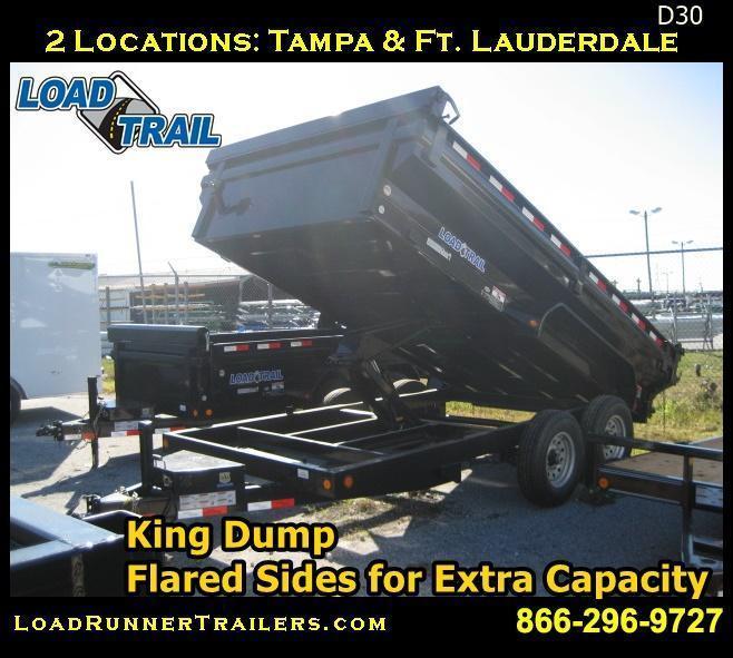 *D30* 7x14 7 TON Dump Trailer Load Trail KING Sides 7 x 14 | DK83-14T7-24S