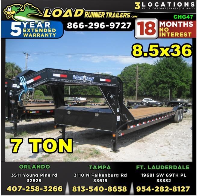 *CHG47* 8.5x36 7 TON Gooseneck Car Hauler Trailer  LR Trailers 8.5 x 36   CHG102-36T7-DOF