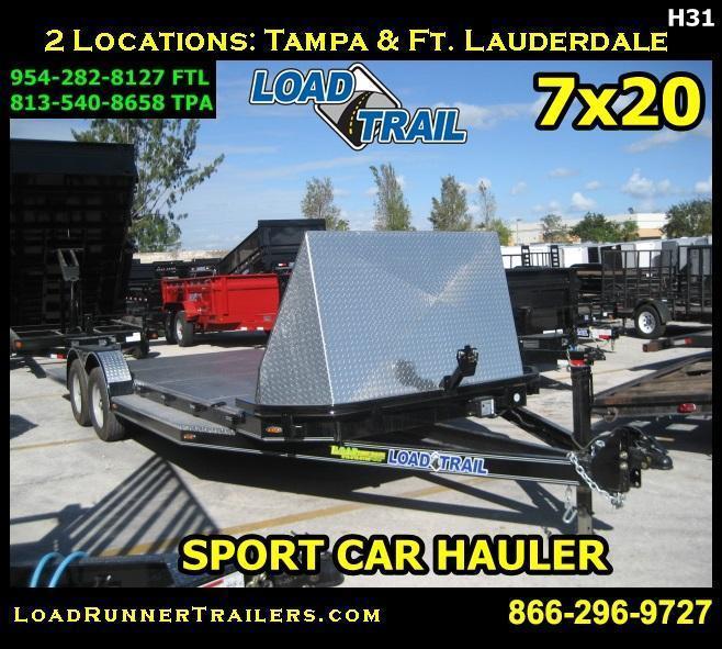 *H31* 7x20 SPORT Car Hauler Trailer Load Trail 7 x 20 | CH83-20T3-2B-SPORT