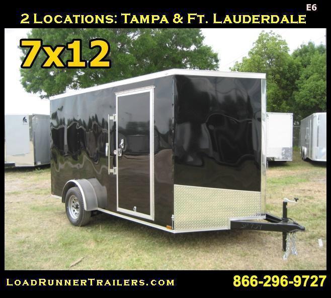 E6  7x12 Single Axle*Enclosed*Trailer*Cargo* 7 x 12  LRTrailers