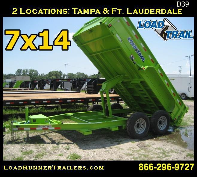 *D39* 7x14 7 TON LOW PROFILE Load Trail Dump Trailer | LR Trailers
