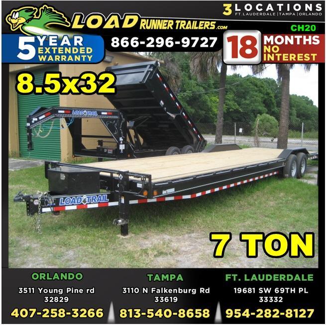 *CH20* 8.5x32 7 TON Car Hauler Trailer |LR Trailers & Haulers 8.5 x 32 | CH102-32T7-DOF