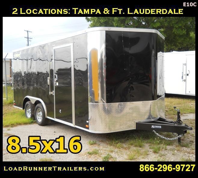 E10C| 8.5x16*Enclosed*Trailer*Cargo*Car*Hauler*|LR Trailers | 8.5 x 16 |E10C