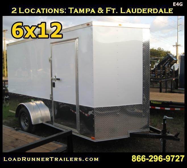 *E4G* 6x12  Enclosed Cargo Trailer LR Car Wash Trailers 6 x 12   EV6-12S-R