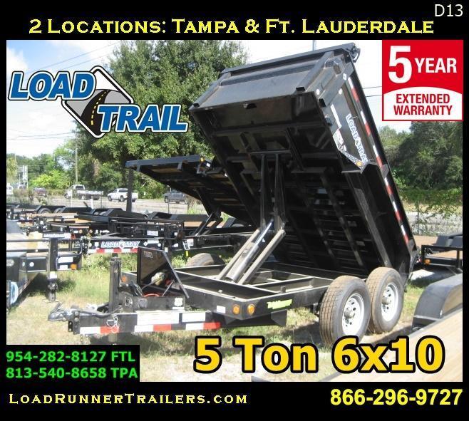 *D13* 6x10 Load Trail Dump Trailer 5 TON Trailers 6 x 10 | D72-10T5-24S