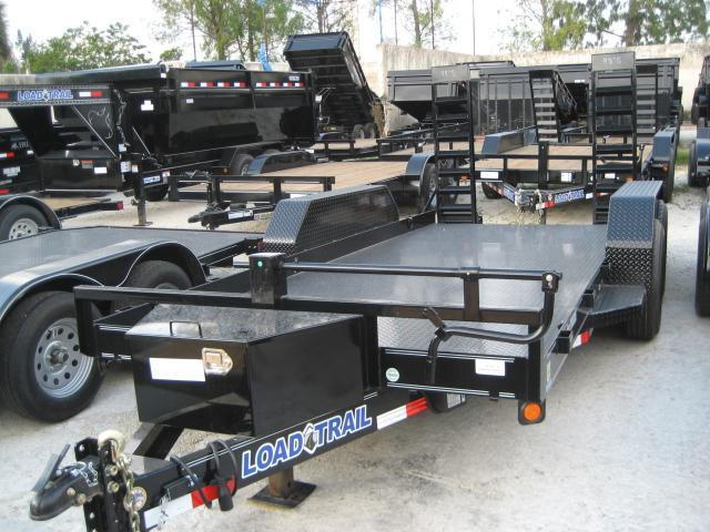 *H61* 7x16 7TON Bobcat/Equipment Hauler Trailer w/Kicker Ramps 7 x 16 | BC80-16T7-KR/SD