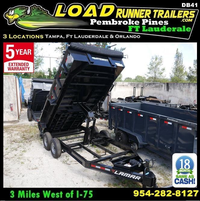 *DB41* 7x16 14K Lamar Dump Trailer Tandem Axle Trailers|105133| 7 x 16 | D83-16T7-LP/24S