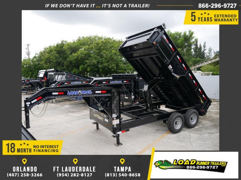 *107803* 7x14 Gooseneck 7 TON Dump Trailer  LRT Tandem Axle Trailers 7 x 14