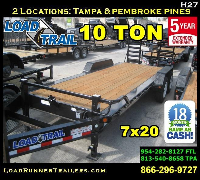 2018 Load Trail EQ82-20T10T-KR Equipment Trailer