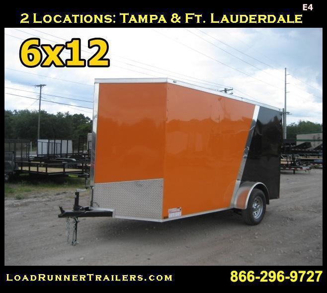 E4| 6x12 Single Axle*Enclosed*Trailer*Cargo*| 6 x 12| LRT