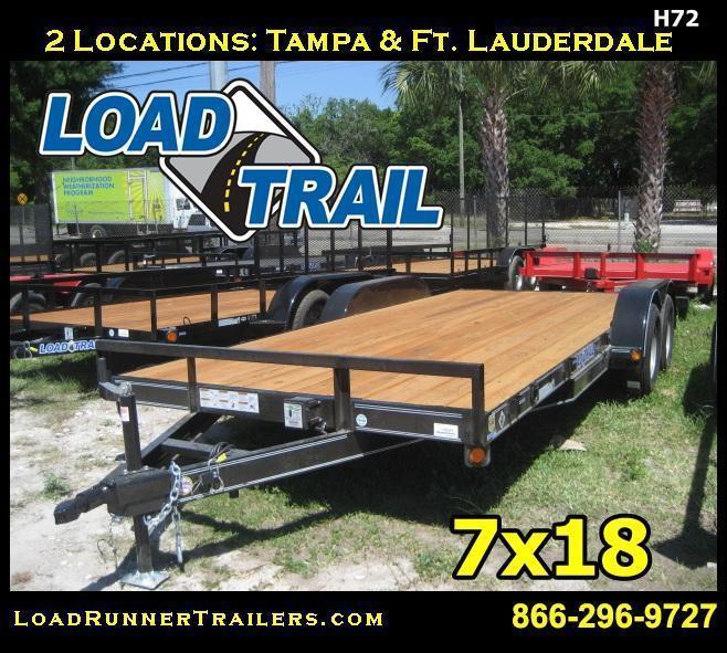 H72 | 7x18 LOAD TRAIL 7K Car Hauler Trailer | Load Runner Trailers