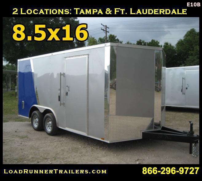 E10B| 8.5x16*Enclosed*Trailer*Cargo*Car*Hauler*| 8.5 x 16 |LR Trailers