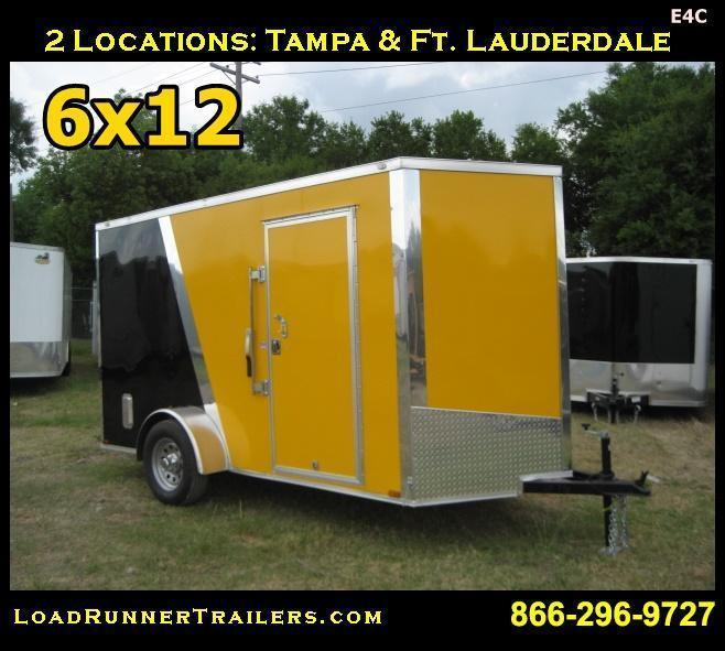 *E4C* 6x12 Cargo Enclosed Trailer  L R Painter Trailers 6 x 12 | EV6-12S-R