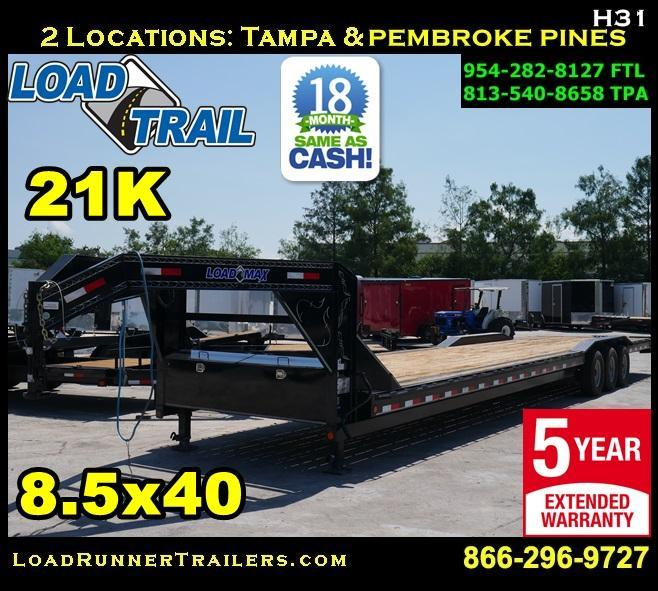 *H31* 8.5x40 Used 2018 Gooseneck 21K Triple Axle Car Hauler 8.5 x 40 | CHG102-40TT7-DOF
