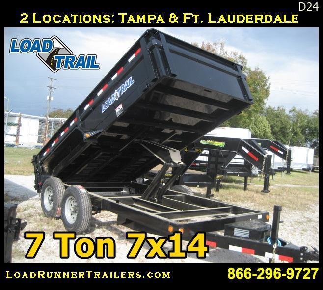*D24* 7x14 7 TON Dump Trailer Load Trail 14K 7 x 14 | D83-14T7-24S