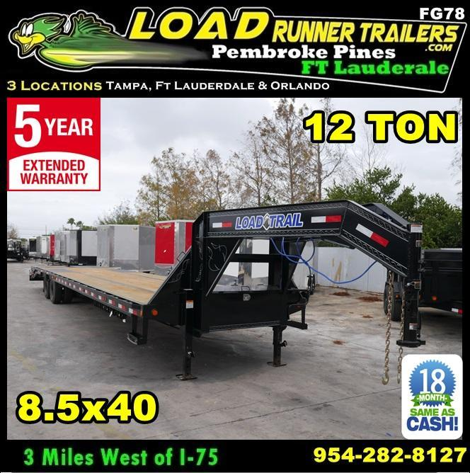 *FG78* 8.5x40 12 TON Deck Over Gooseneck Trailer |Flatbed Trailers 8.5 x 40 | FG102-40T12-FF