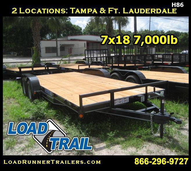 H86 | 7x18 LOAD TRAIL 7K Equipment Hauler Trailer | LR Trailers