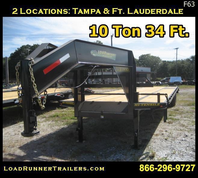 F63  34' Gooseneck 10-Ton Low-Profile Dove Tail Trailer   LR Trailers   F63