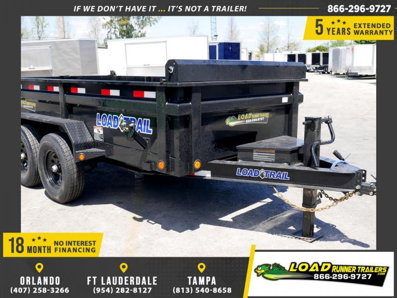 *109152* 6x12 Dump Trailer  LRT Tandem Axle Trailers 6 x 12