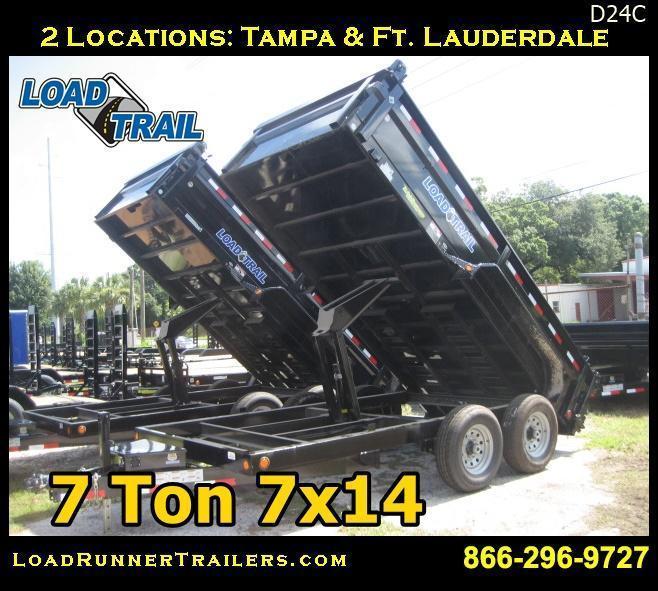 *D24C* 7x14 Load Trail 14K 7 TON Dump Trailer #D83-14T7-24S