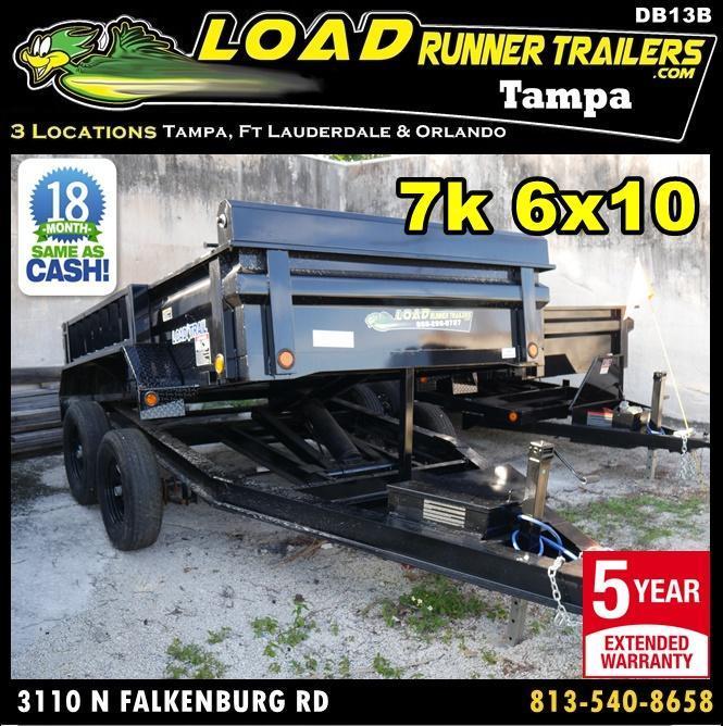 *DB13* 6x10 Load Trail Dump Trailer Tandem axle Trailers 6 x 10 | D72-10T3-24S