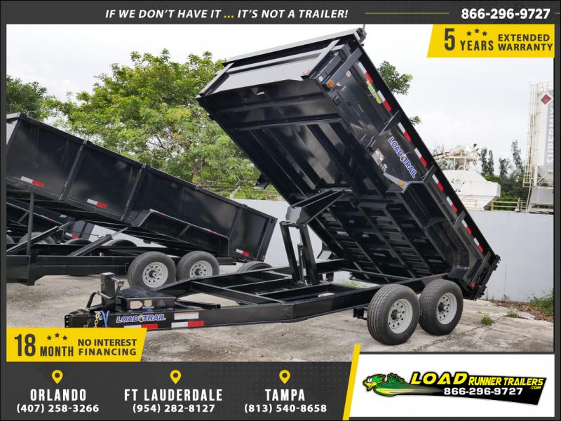 *106806* 7x14 Load Trail Dump Trailer |LRT Tandem Axle Trailers 7 x 14