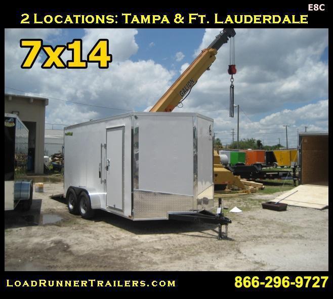 E8B| 7x14 Tandem Axle*Enclosed*Trailer*Cargo* | 7 x 14 | LR Trailers | E8B