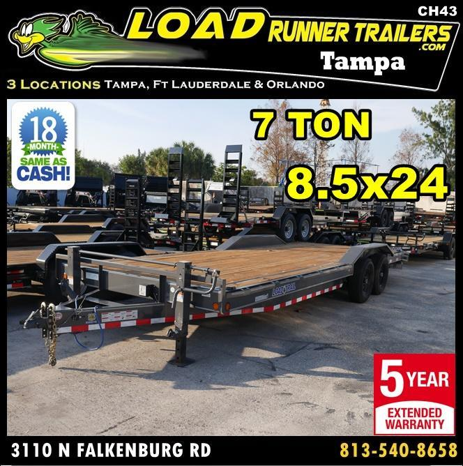 *CH43* 8.5x24 Hauler Trailer 7 TON Equipment Car Trailers 8.5 x 24 | CH102-24T7-DOF