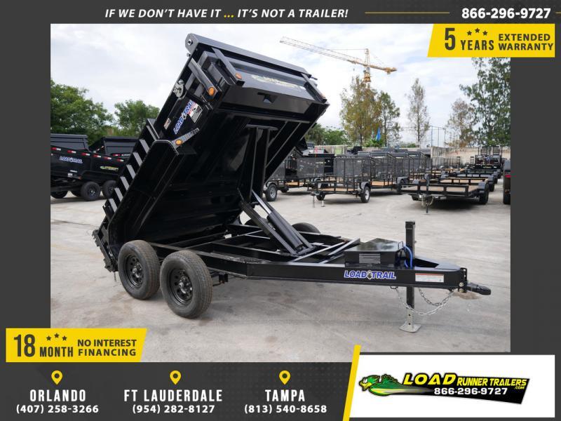 *108258* 6x10 7K Dump Trailer  LRT Tandem Axle Trailers 6 x 10