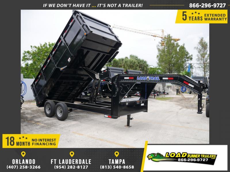 "*107783* 7x16 Gooseneck Dump Trailer w/4' Sides |LOAD TRAIL Dump Trailers|48"" 7 x 16"