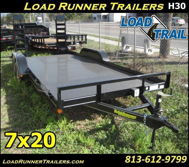 *H30* 7x20 Equipment Hauler Trailer 7K with Kicker Ramps 7 x 20 | EQ83-20T3-2B-SD/KR