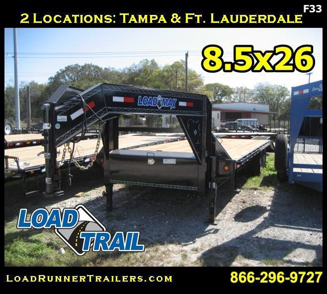 *F33* 8.5x26 Gooseneck Flatbed Deck Dove Tail 7 TON 8.5 x 26   FG102-26T7-FF