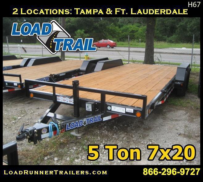 7x20 5 TON Equipment Hauler Trailer W/Electric Brakes | Trailers |H6