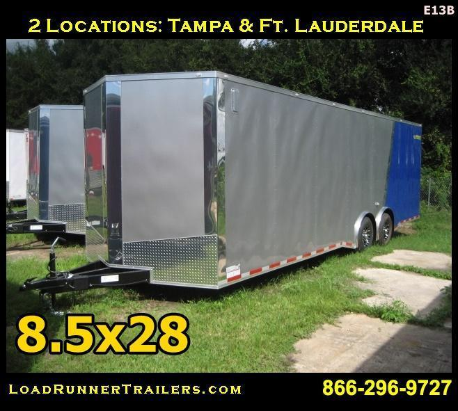 E13B| 8.5x28*Enclosed*Trailer*Cargo*Car*Hauler*|LR Trailers | 8.5 x 28 |E13B