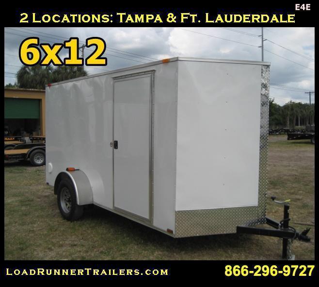 *E4E* 6x12 Enclosed Cargo Trailer SA LR Plumber Trailers 6 x 12 | EV6-12S-R