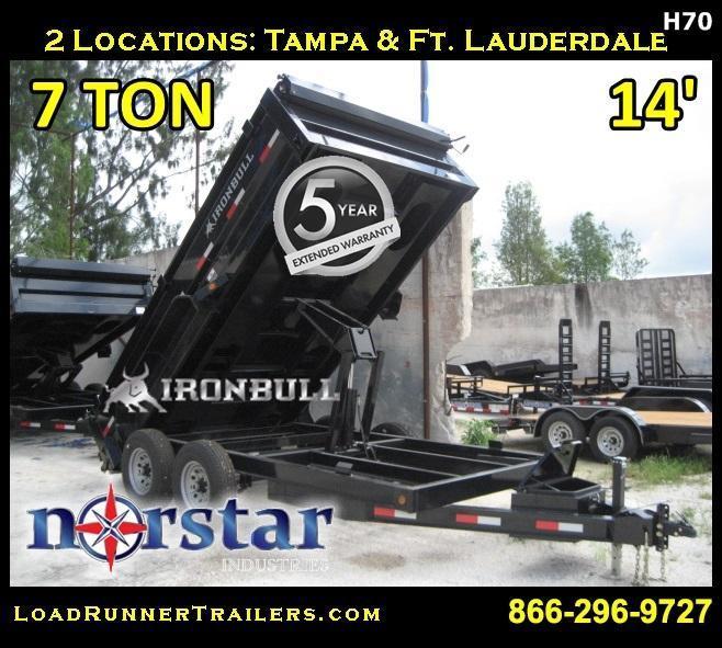 *D70* 7x14 Load Trail Dump Trailer 7TON LR Trailers 7 x 14 | D83-14T7-24S