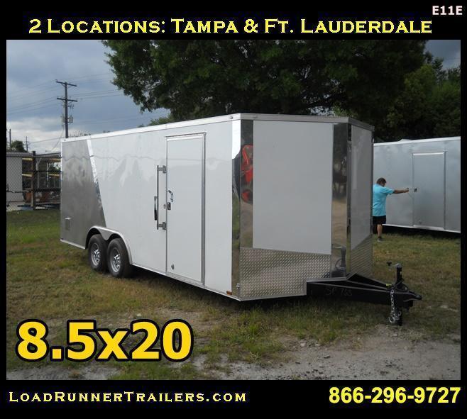 E11E| 8.5x20*Enclosed*Trailer*Cargo*Car*Hauler*|LR Trailers | 8.5 x 20 |E11E