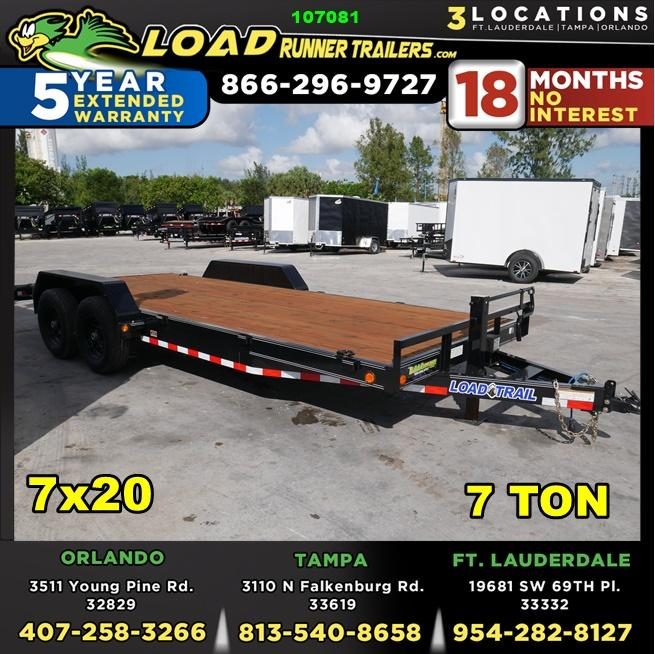*107081* 7x20 Load Trail Car Trailer |LRT Tandem Axle Trailers 7 x 20 | CH83-20T7
