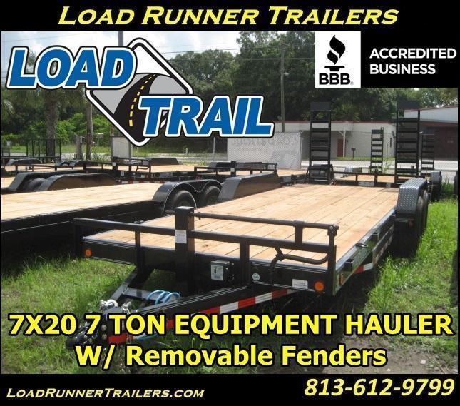*H63* 7x20 Equipment Hauler Trailer 7 TON Load Trail 7 x 20 | EQ83-20T7-KR