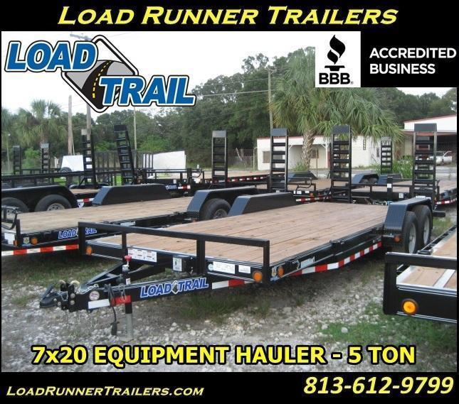 H34| 5 TON 7x20 Equipment / Car Hauler Trailer |LR Trailers & Haulers | H34