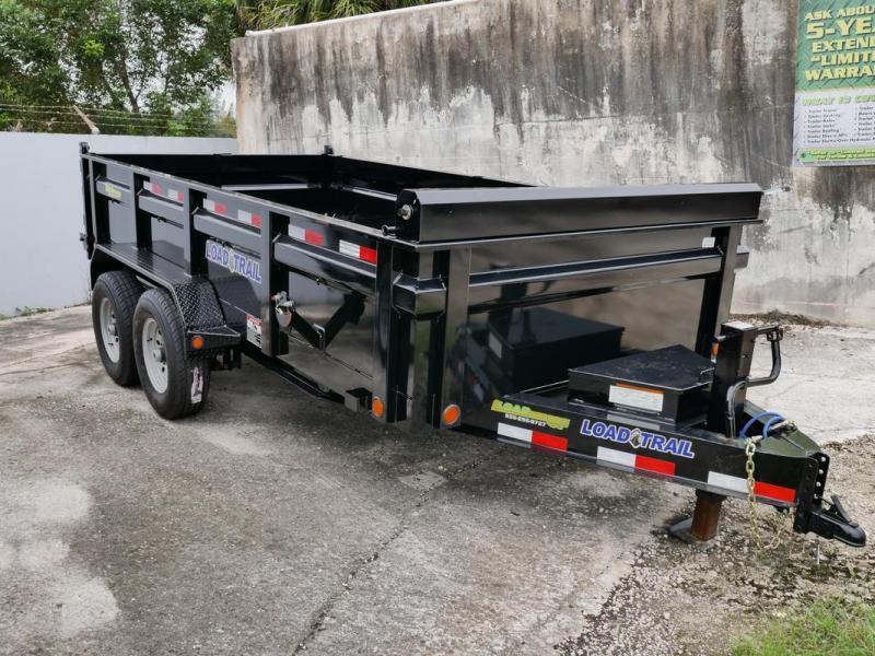 *106806* 7x14 Load Trail Dump Trailer |LRT Tandem Axle Trailers 7 x 14 | D83-14T7-24S