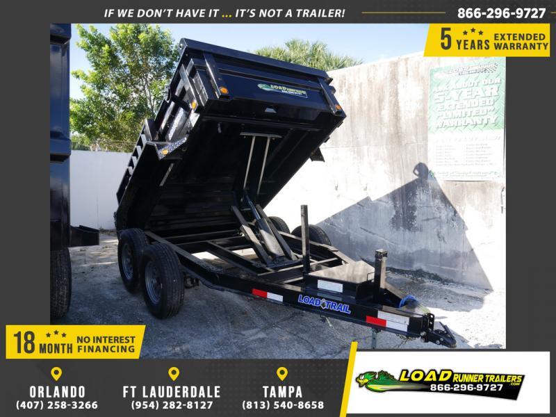 *108085* 6x10 Load Trail Dump Trailer |LRT Tandem Axle Trailers 6 x 10