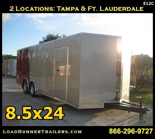 E12C| 8.5x24*Enclosed*Trailer*Cargo*Car*Hauler*|LR Trailers | 8.5 x 24 |E12C